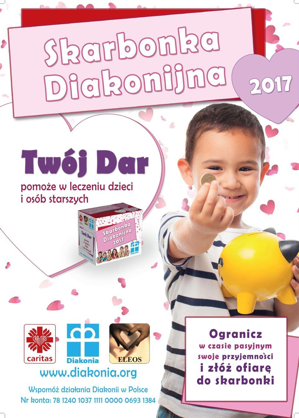 Plakat Skarbonka Diakonijna 2017