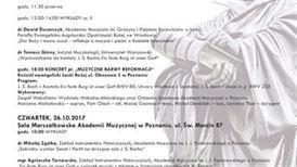 25-26 10 2017 sesja reformacja w Akademii Muzycznej plakat